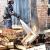 В Омске 26 пожарных тушил 100 деревянных ящиков