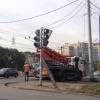 На пересечении улиц Дергачева и Дианова в Омске у светофоров появятся пешеходные секции