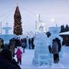 В Омске построили необычный снежный городок с лабиринтом и дворцом