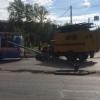 В Омске упал новый светофор у сквера «Крылатое братство»