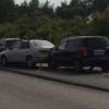 Под Омском столкнулись сразу пять автомобилей