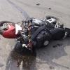 На омской трассе 70-летний мотоциклист опрокинулся и погиб