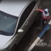 В Омске на видео попался юный автовзломщик
