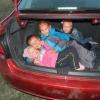 Полиция ищет омичку с детьми в багажнике