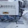 У пассажирского автобуса в Омске на ходу отвалилась дверь