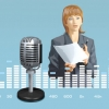 Озвучка видеороликов голосами дикторов.