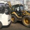 В Омске трактор не уступил дорогу маршрутному автобусу