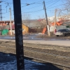В центре Омска из-под земли забил «гейзер»