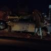 В перевернутой омской иномарке пострадал пассажир