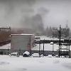 Пожарные Омска три часа боролись с огнем на складе пиломатериалов