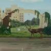Художники «убрали» стену во дворе омской гимназии №19