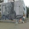 Портрет омского художника Либерова появился на одной из городских стен