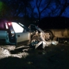 На неровном участке дороги в Омске столкнулись две машины