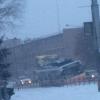 В Омске троллейбус чуть не опрокинулся на бок