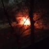 В Омске у ДК «Малунцева» взорвался «Лексус»