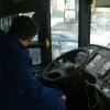 В Нефтяниках загорелся пассажирский автобус