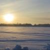 В Омске на берегу реки замерз человек