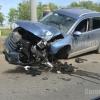 В Омске ещё один водитель сбил фонарный столб