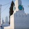 Снежный кремль появился в Омске