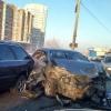 В Омске майор полиции госпитализирован после тройной аварии