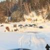 UAZ Patriot провалился под лед на переправе в Омской области
