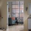 Стеклянные распашные двери — идеально
