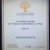 Омская область вошла в десятку лидеров по темпам развития культуры