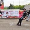 На омском турнире силачей «КУБОК ПОБЕДЫ» Михаил Шивляков отбуксировал легковой автобус зубами
