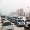 Снежная буря опять сковала дорожное движение в Омске
