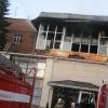 В Омске горела гостиница на Левом берегу