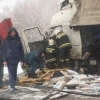 Две фуры столкнулись на трассе Омск – Тюмень
