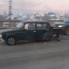 Горбатый мост в Омске с утра встал в пробках из-за аварии