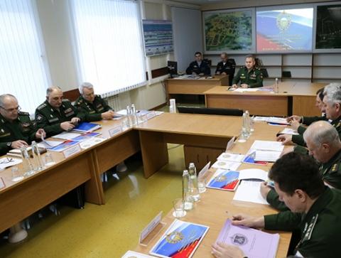 Рабочее совещание главы Минобороны РФ