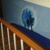 Омичи разрисовали стены в подъезде