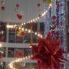 Омск начали украшать к Новому году