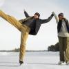 Тысячи горожан на коньках встретили канун Рождества на всех ледовых стадионах Омска!