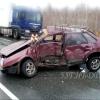 В аварии на трассе в Омской области пострадали три человека