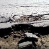 В Омской области «раскрошилась» новая дорога