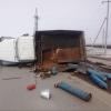 На трассе под Омском опрокинулся грузовик с кислородными баллонами