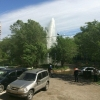 В Омске из-за прорыва трубопровода на Левобережье появился гейзер