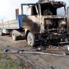 На трассе Тюмень-Омск сгорела фура с грузом на миллион