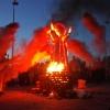 Омичи увидели шоу, как из огня родилась скульптура