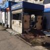 В Омске на 10-летия Октября сгорел обувной киоск