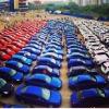 В Омске составили самый большой триколор из автомобилей
