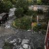 В теплый выходной день на Омск обрушился град