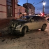 В Омске Mercedes попал в серьезную аварию