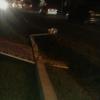 В Омске легковушка устроила «схватку» с фонарными столбами