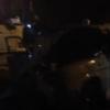 Ночью в Омске на Архитекторов «Волга» столкнулась с пассажирским  автобусом