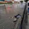 Обновленный бульвар Мартынова в Омске ушел под воду