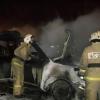 Ночью у омича сгорел BMW X5